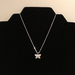 SS Butterfly Pendant On Origami Owl Chain
